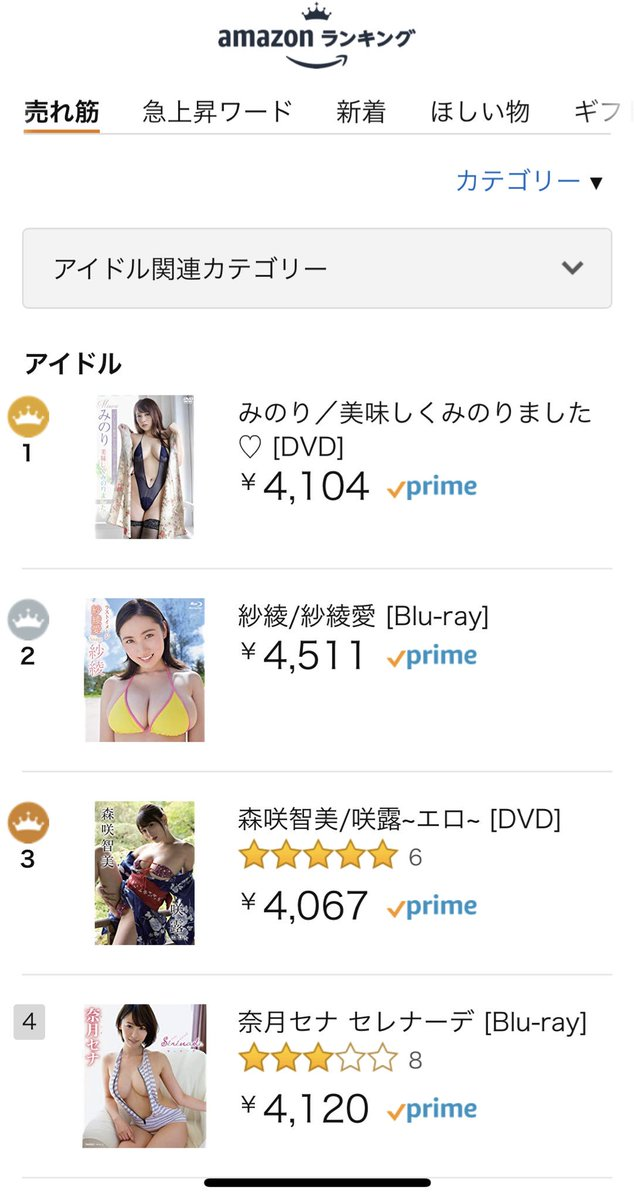 みのり バーレスク東京  アマゾン・アイドルDVDランキング1位 画像