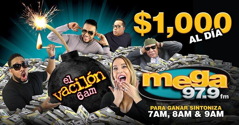 Mega979 On Twitter La Mega Bomba Del Dinero Con El Vacilon De La Mañana Https T Co H7x3vnkeh6