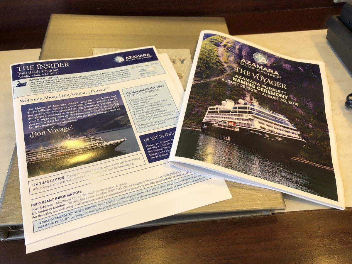 Azamara Pursuit Naming & Cruise August 2018