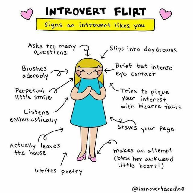 Flirting with an introvert