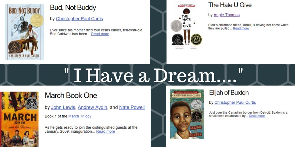 "test Twitter Media - 55 years ago today, Martin Luther King Jr. made his iconic ""I Have a Dream"" speech! Here are a few of our favorite related books with an abundance of resources available on TeachingBooks! https://t.co/abn6NuHcni"