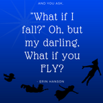 Don't be afraid of falling, because that's how you learn to FLY. #HPU365 #growthmindset