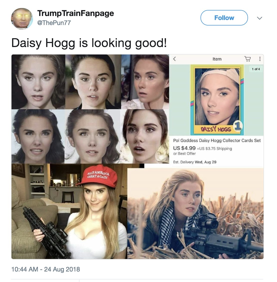 4chan nerds are photoshopping David Hogg to look female, calling him Daisy, and then having sexual fantasies about their Daisy Hogg memes. I feel like this is some... new, uncharted form of self-own