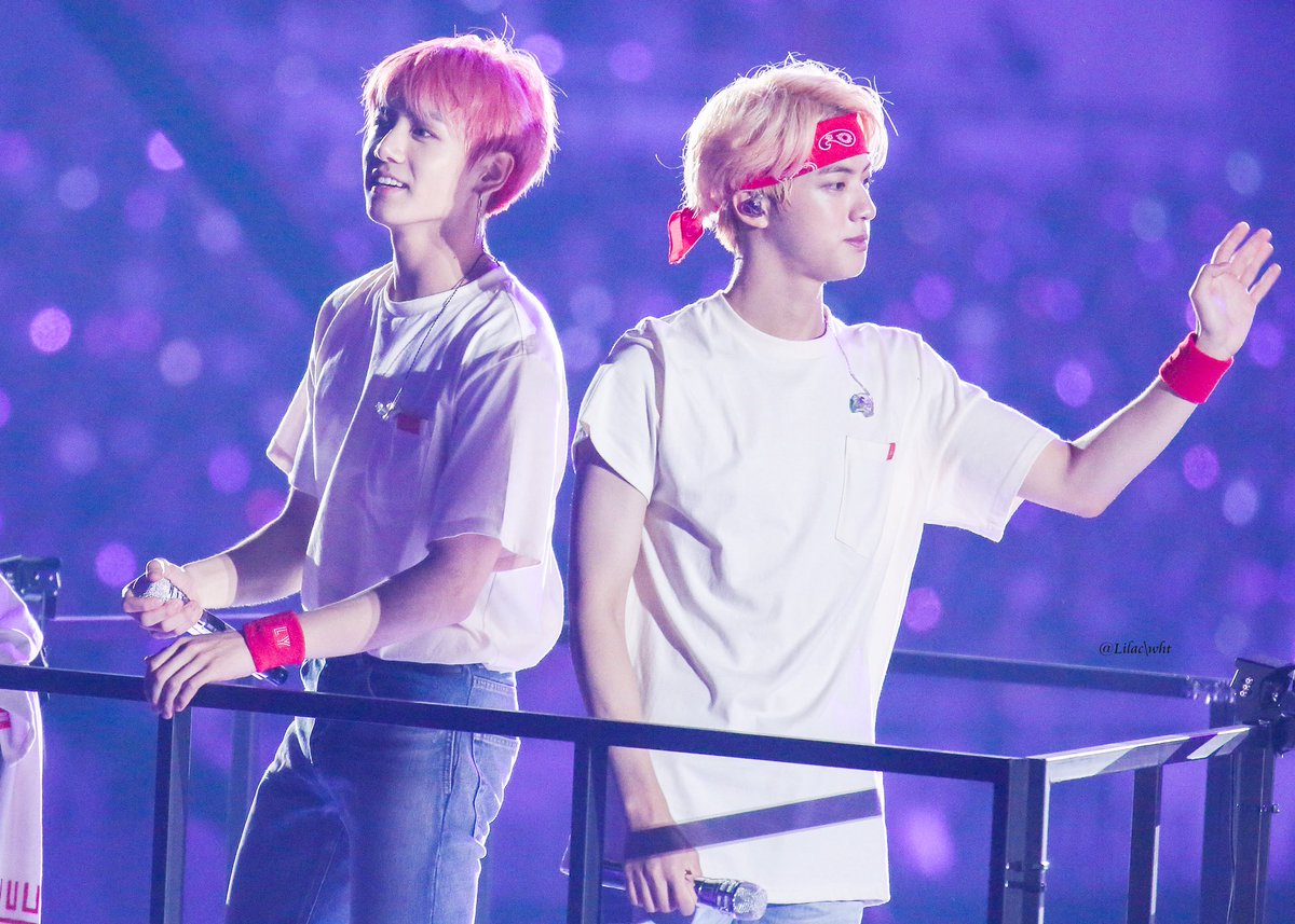 Lilac Wht On Twitter Hq 180826 Bts Jungkook Jin At World Tour Love Yourself In Seoul