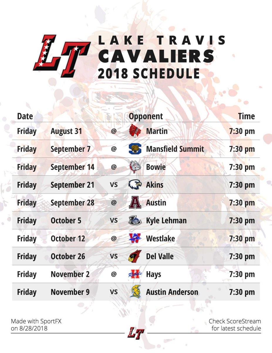 photo regarding Cavs Printable Schedule called Lake Travis Soccer upon Twitter: \