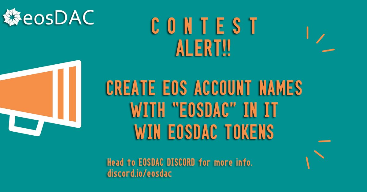 Eosdac On Twitter Signup For A Discord Account At Https T Co Hsdqijt8gf Then Join Eosdac Discord Server At Https T Co O8xfqtdtgf To Submit Your Entry Https T Co Rwev9fl2hm