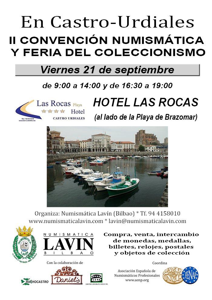 CASTRO URDIALES, 21 de septiembre, Hotel Las Rocas. Convención Numismática DlsruKPWsAA_Xpc