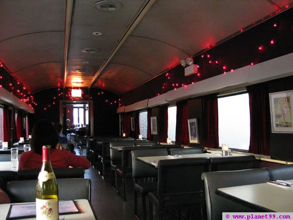 #transportationtuesday An interior shot of the restored train car used as a dining room for the Silver Palm, a Chicago restaurant located at 768 N. Milwaukee. This dining car was built in 1947 by the Budd Company for the Atlantic Coast Line Railroad. thesilverpalmrestaurant.com