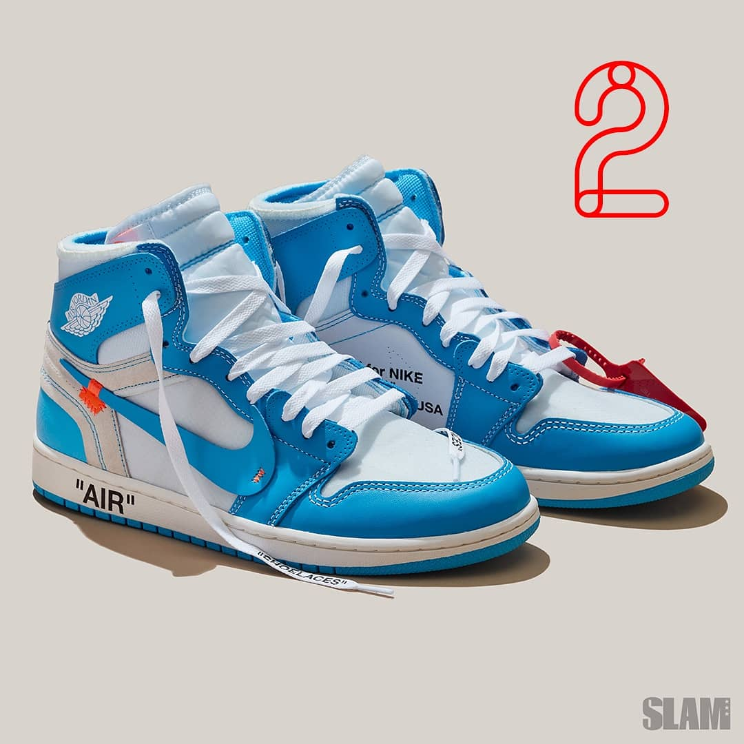 the unc off white jordans come in at number 2 on our hottest sneakers of  2018 116e8dd695