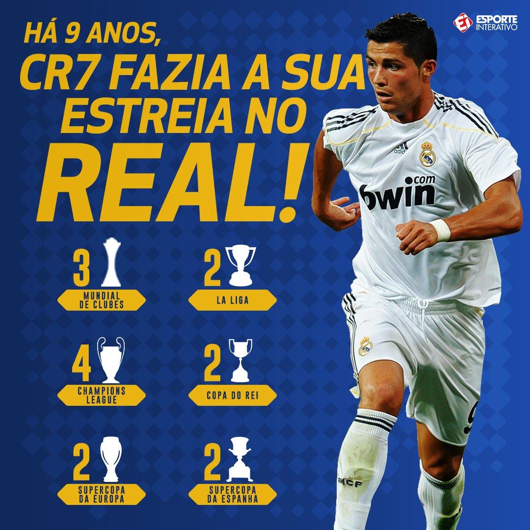 Cristiano Ronaldo fez a sua estreia na vitória do Real Madrid pra cima do  Deportivo de 249e72a6eff5d
