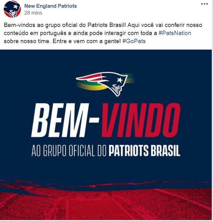 dba2899d8 Entrem lá Patriotas e façam parte dessa ação super bacana da equipe!  https   www.facebook.com groups PatriotsBrasil  …pic.twitter.com hBvZGvhVc4