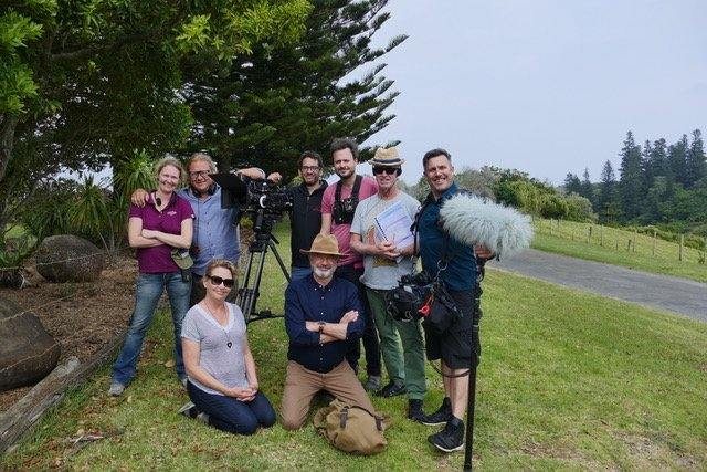 Our great little crew. On Norfolk Island . #Uncharted starts on @Primetv_NZ Sunday 830. Join us