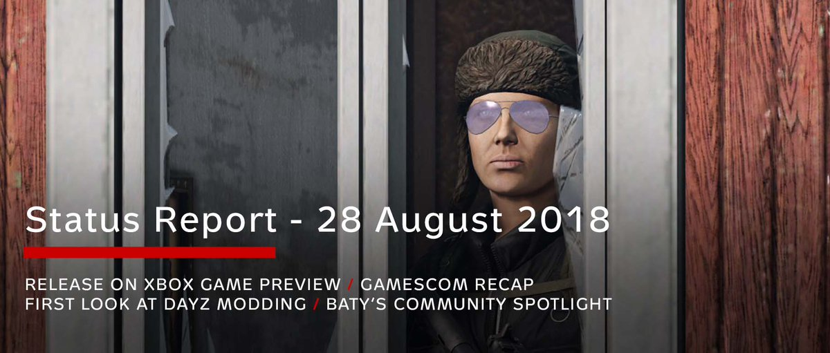 b81d574b9 We also talk about modding and have a recap on our appearance at Gamescom  last week. Have a read! https://dayz.com/blog/status-report-28-august-2018  … ...