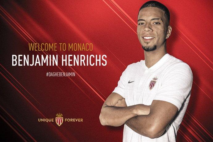 Maillot Extérieur AS Monaco Benjamin HENRICHS