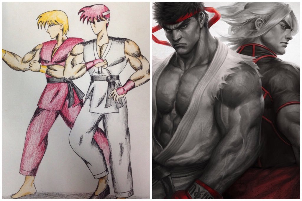 Artgerm On Twitter Found My Very First Fan Drawing Of Ryu And Ken