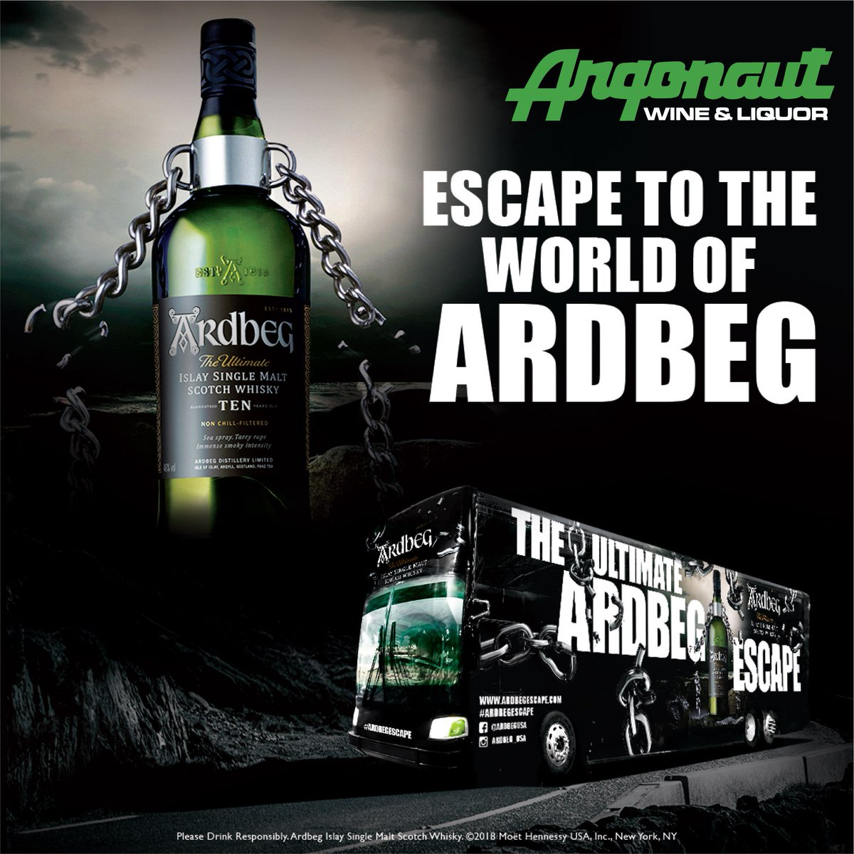 Image result for Ardbeg Distillery's Escape Bus!