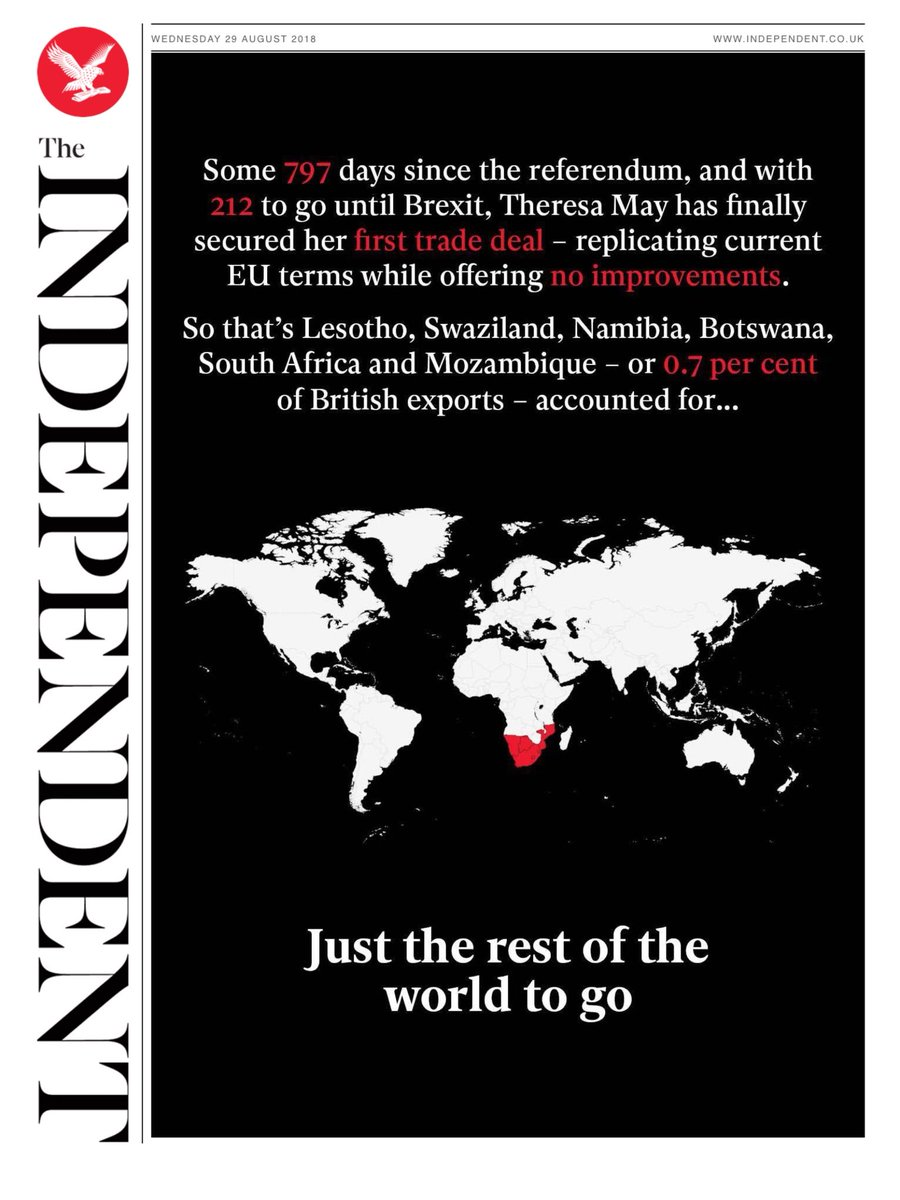 Wednesday's Independent: 'Just the rest of the world to go' (via @hendopolis) #tomorrowspaperstoday https://t.co/R1UfekGFi8