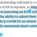 $ICX's partnership with @certikorg enables formal verification of all smart contracts deployed on the platform. Founder of $CTK, Ronghui Gu, is an advisor to @helloiconworld's global accelerator program: ICX Station.
