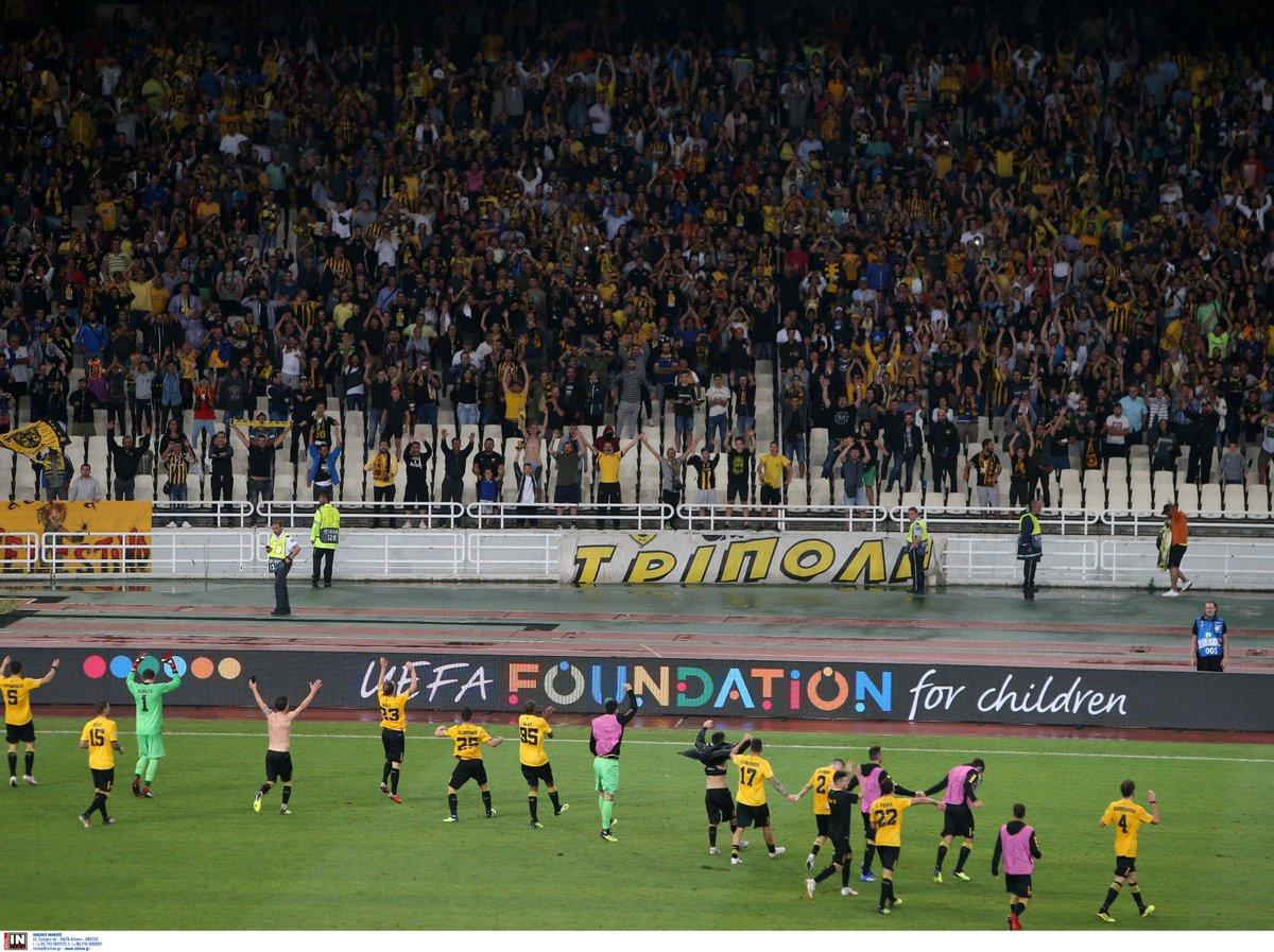 Ιστορική πρόκριση μετά από μία αληθινή ποδοσφαιρική μάχη στο ΟΑΚΑ. https    web.facebook.com AEK.FC.OFFICIAL posts 2348724265169038 … 63b53d4dc23