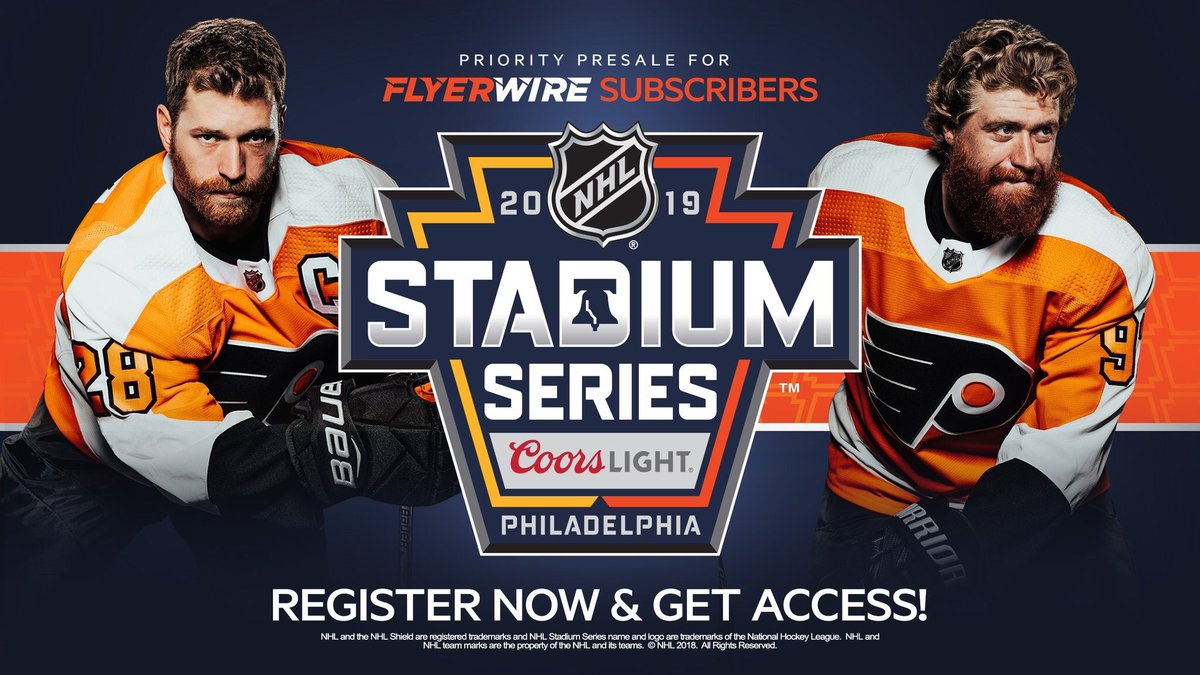 1b419a4bccf Sign up for our Flyerwire newsletter and gain priority presale access to  the 2019 Coors Light @NHL Stadium Series at @LFFStadium.