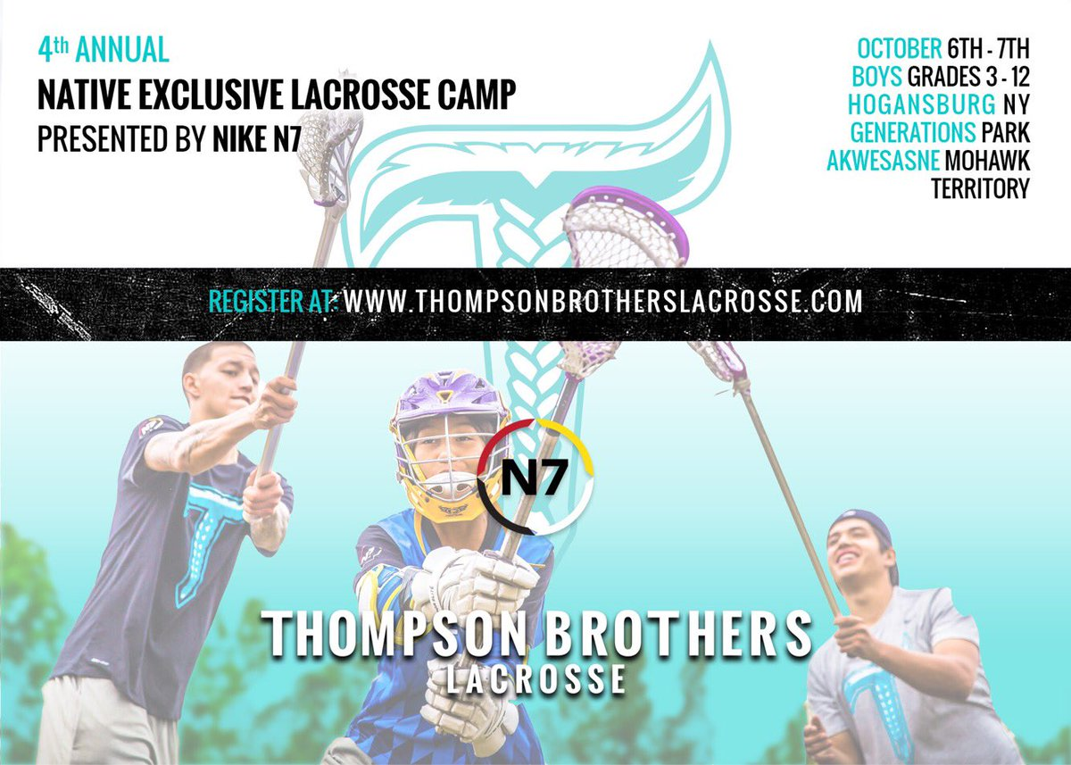 Limited spots available for our 4th annual Nike N7 camp @NikeN7 @NikeLacrosse @Nike #MoveYourGeneration #TBLtuesday