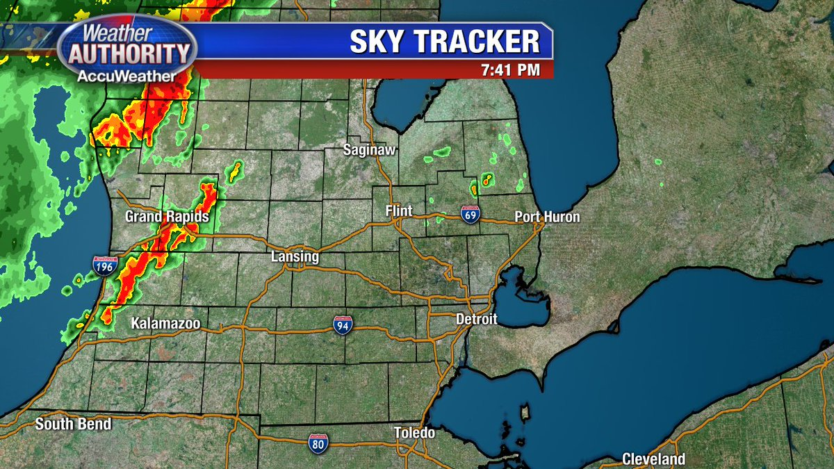 Grand Rapids Weather Map.Fox 2 Detroit On Twitter 7 43 Pm Weather Radar Update Few