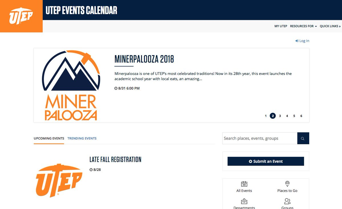 Utep Calendar.Utep On Twitter The New Utep Events Calendar Https T Co