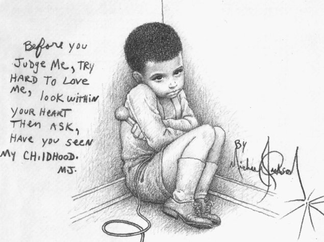 Happy Birthday, Michael Jackson! Drawing by Michael Jackson:
