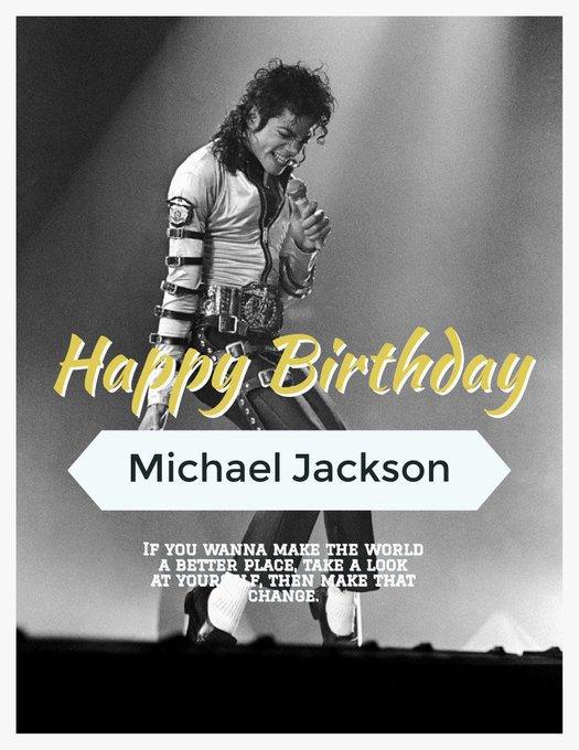 Happy 60th Birthday to The King of Pop Michael Jackson.