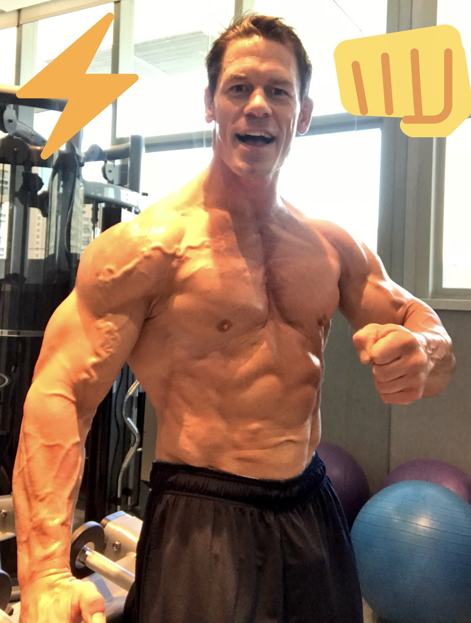 John cena on twitter 4 days wwe 6thmod aka - John cena gym image ...