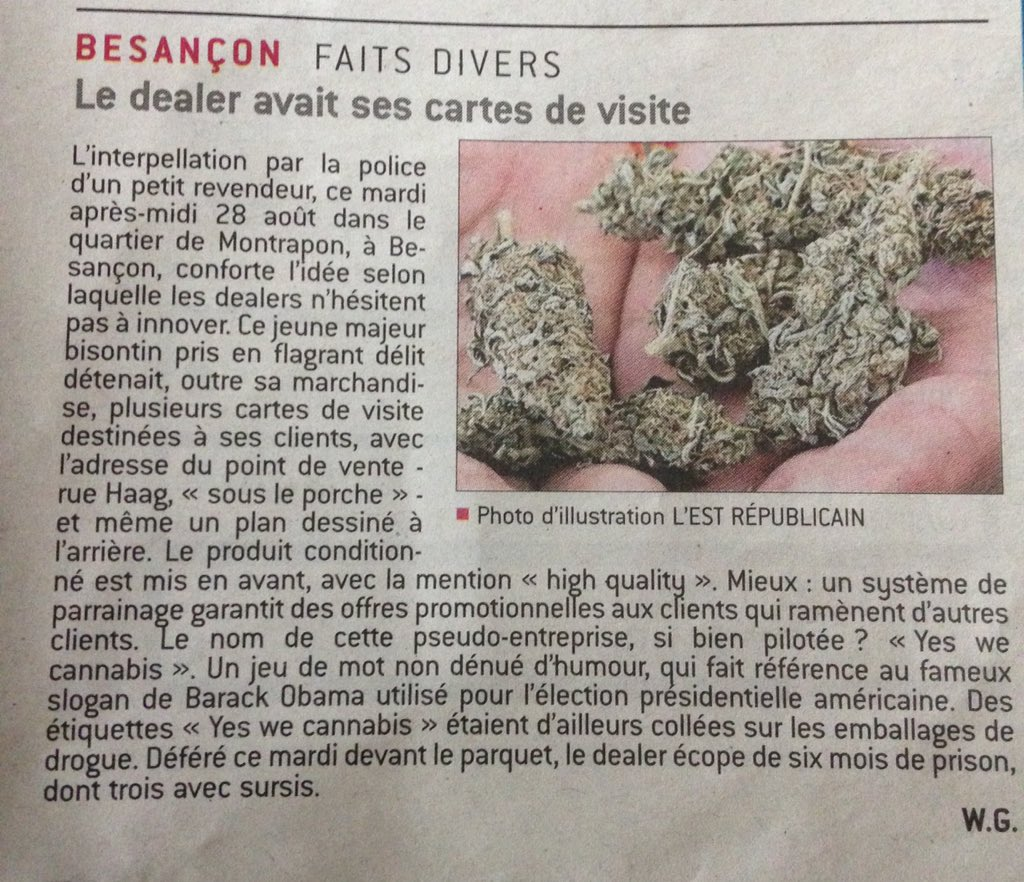 Thibaut Mougin On Twitter Yes We Cannabis Besancon