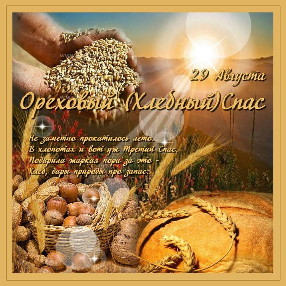 Открытка ореховый и хлебный спас