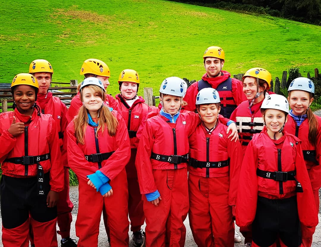 A good day of #GullyBashing yesterday for #Camp10. Praise God for safety and lots of fun!  #EMWCamps18 #GorgeWalking #Snowdonia #river #waterfalls
