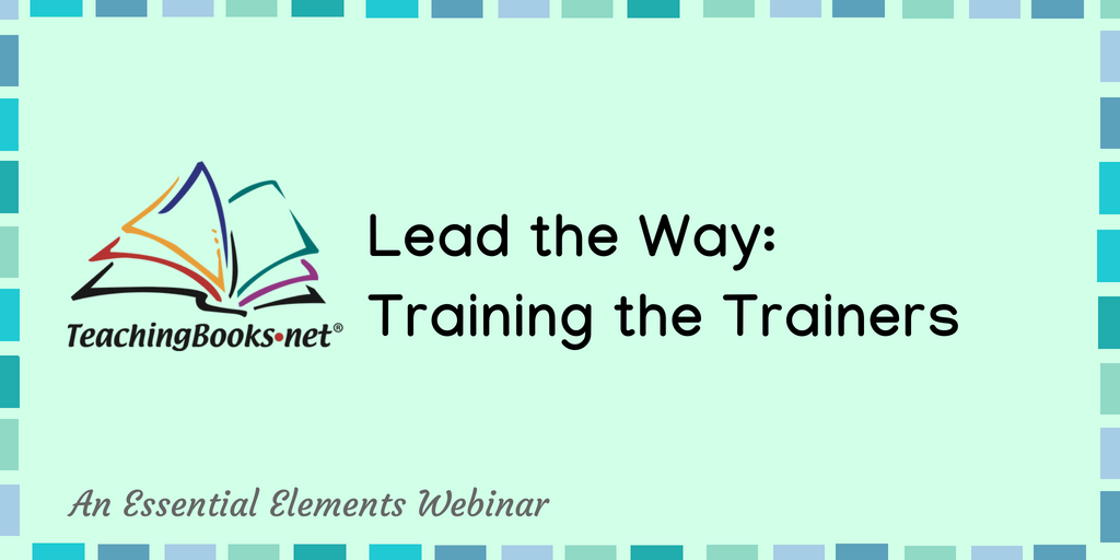 test Twitter Media - Learn how to introduce TeachingBooks to your colleagues in this free webinar.  Lead the way: Training the Trainers Tues, Sept 4 at 3pm ET https://t.co/fgxR9tghSu https://t.co/rQqUz9ibLq