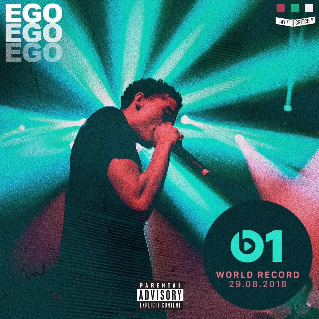 NEW from BK! Today's #WorldRecord from @jaycritch 'Ego' 👉🏼📲 LISTEN apple.co/_Ego