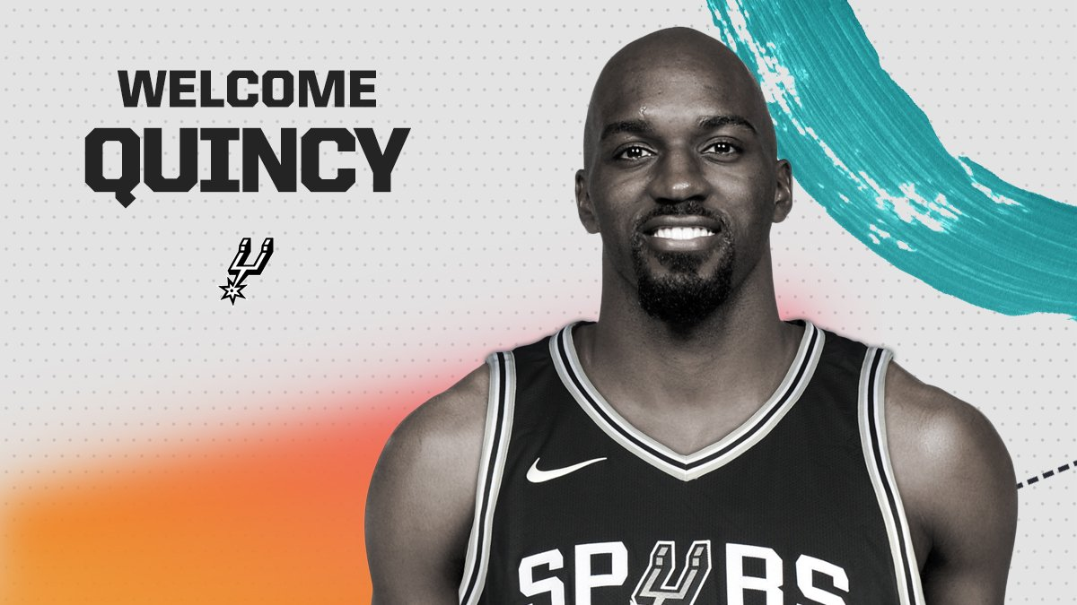 The San Antonio Spurs today announced that they have signed guard Quincy Pondexter.  More: https://t.co/ZJXJZI76Ts https://t.co/3U2pCV3N1p