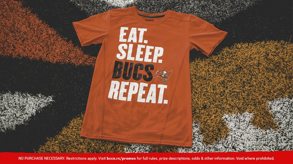 """Retweet for a chance to win this exclusive """"Eat. Sleep. Bucs. Repeat."""" t-shirt!  Details » http://bccn.rs/rBozDm  #GoBucs 