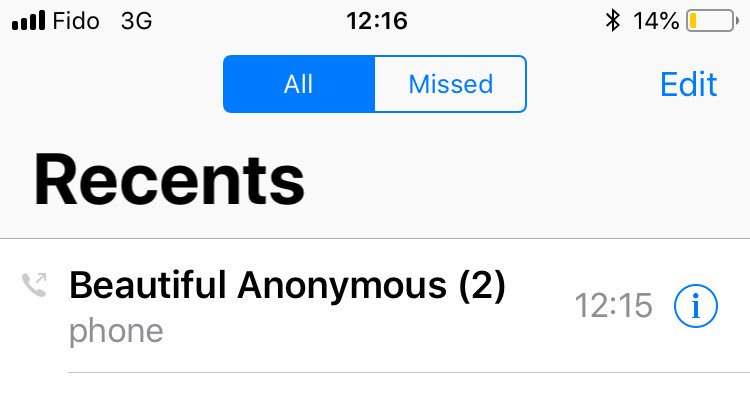 Beautiful anonymous phone number