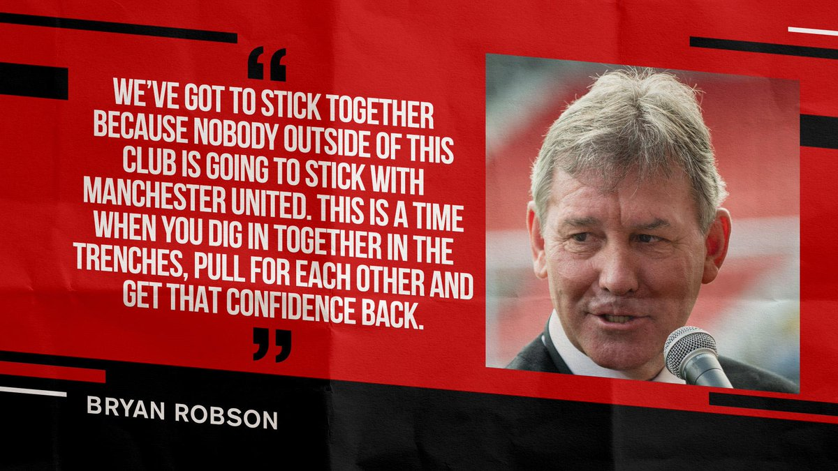 #WednesdayWisdom from @BryanRobson... 👊 #MUFC