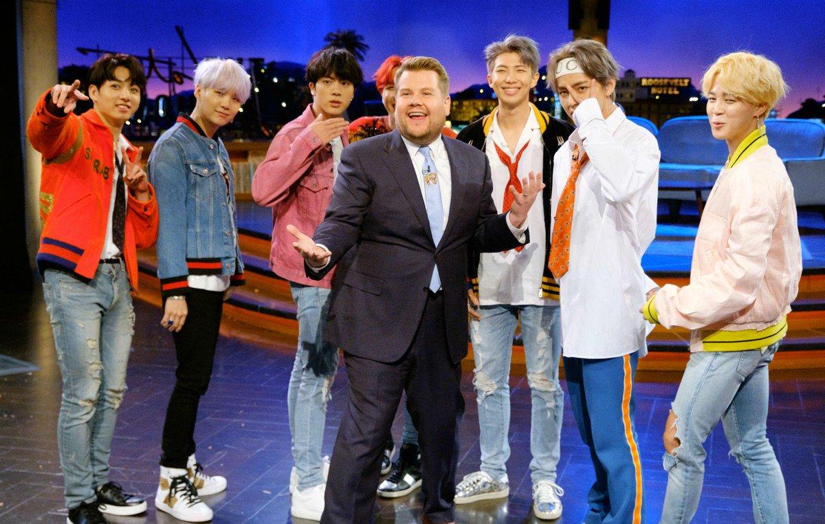 James Corden wants @BTS_twtto appear on 'Carpool Karaoke' https://t.co/LSY9aORgBh