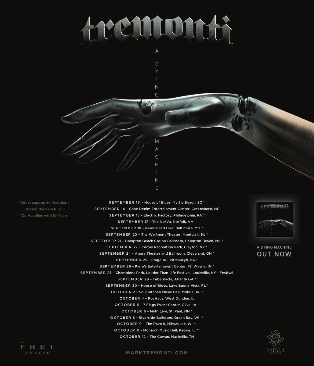 Tremonti On Twitter Us Tour Dates Get Your Tickets Meet And