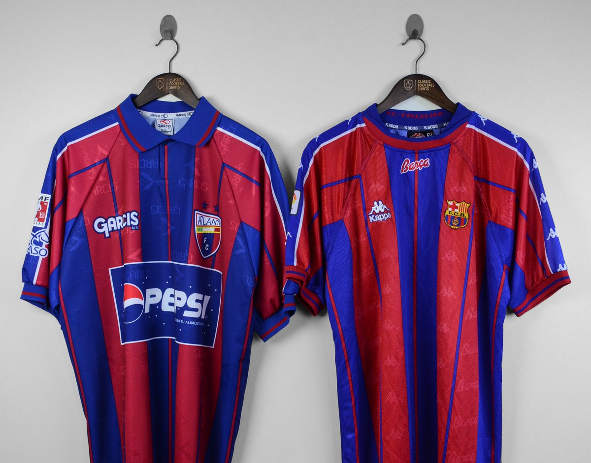 616ad59d1 Shirt Copycats  In 1999 Garcis produced this Atlante shirt but we d seen the  design before by Kappa on the 1997-98 Barcelona home shirtpic.twitter.com   ...