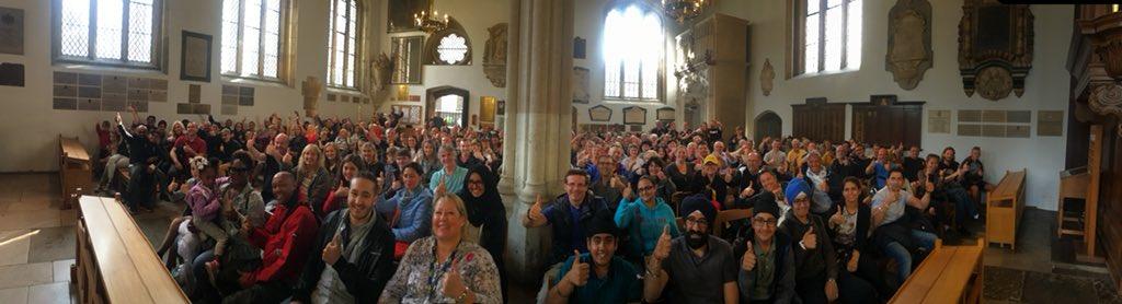Three o'Clockers and a great crowd! #soGoodToBeBack! pic.twitter.com/fdXmAt939M