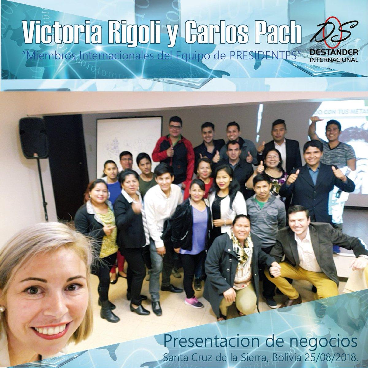 Presentación de negocios Carlos Pach y Victoria Rigoli Santa Cruz de la Sierra, Bolivia, 25/08/2018. https://t.co/xZG3py4SXz