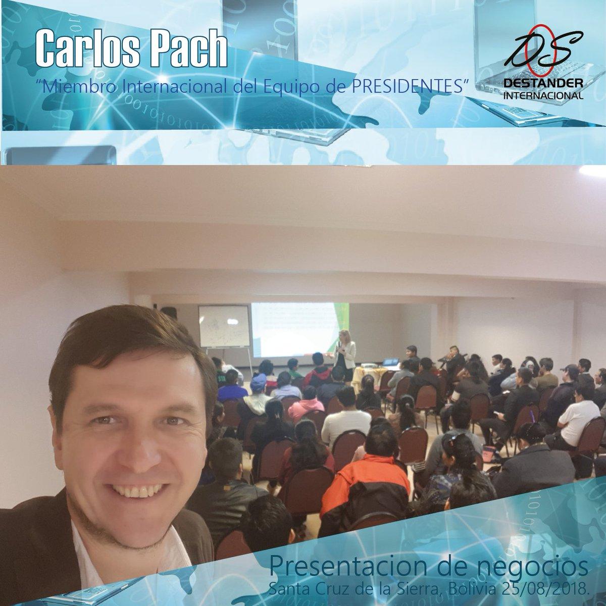 Presentación de negocios Carlos Pach  Santa Cruz de la Sierra, Bolivia, 25/08/2018. https://t.co/VQengwwju5
