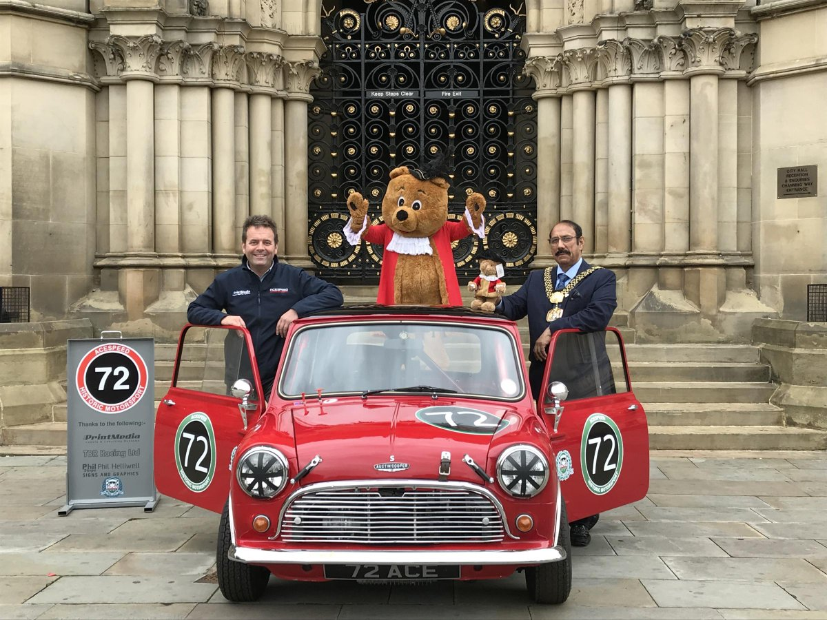 """telegraph & argus on twitter: """"mayor wishes luck to top classic car"""