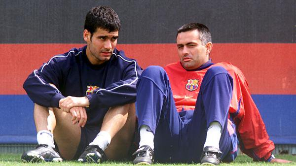 Jose Mourinho and Pep Guardiola at Barcelona.