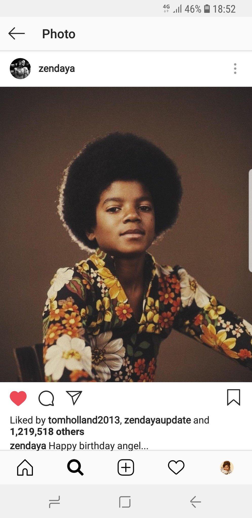 Waiting for Zendaya\s annual bday wish to Michael Jackson... Happy Birthday legend !
