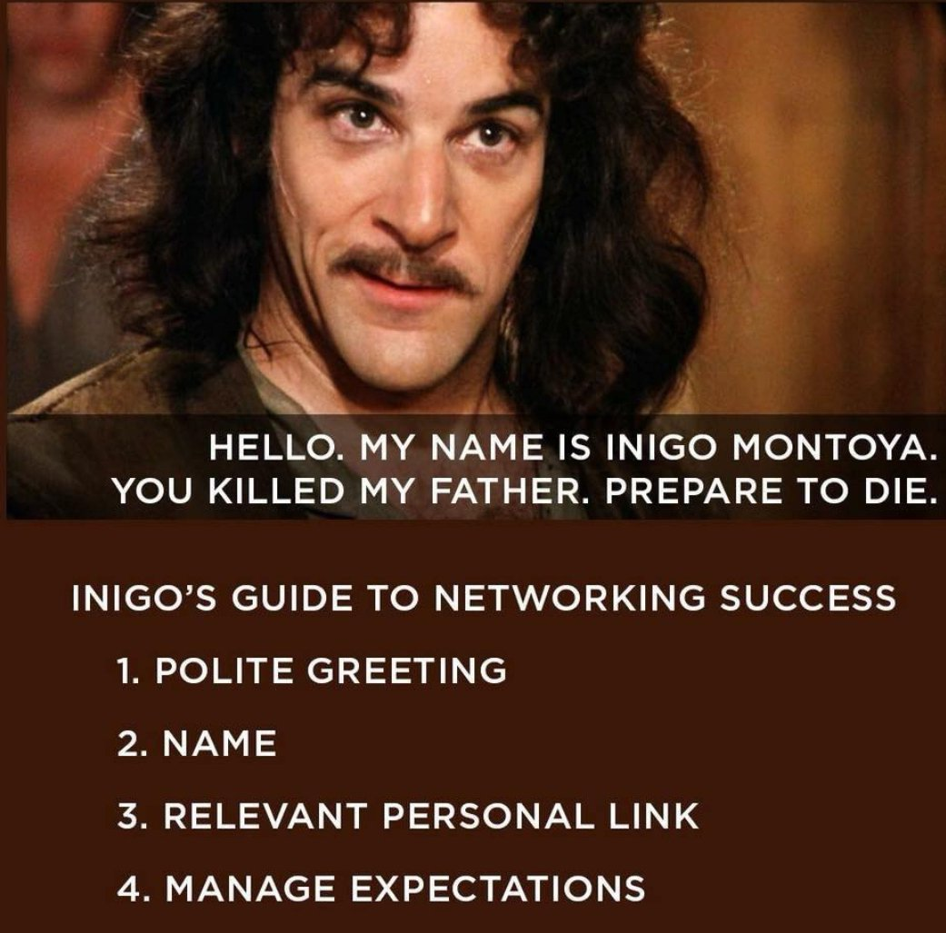 Image result for inigo's guide to networking success