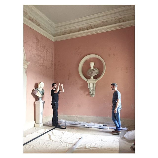 Installation begins in the Temple of Flora @ntstourhead... #todayistheday #installation #artcommission #trustnewart #nationaltrust #stourhead #artistinresidence #ladderworkout  https:// ift.tt/2NtiJBK    <br>http://pic.twitter.com/xd255fe2xo